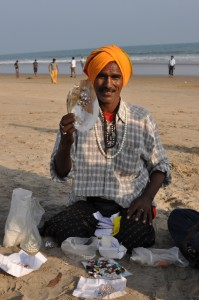 Pearl seller at the beach